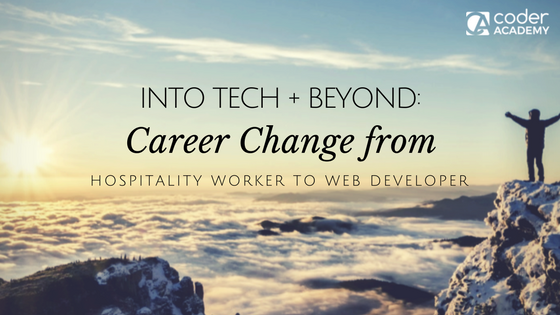 Featured image: Into Tech + Beyond: Jeff's Journey from Hospitality to Web Developer - Read full post: Into Tech + Beyond: Jeff's Journey from Hospitality to Web Developer